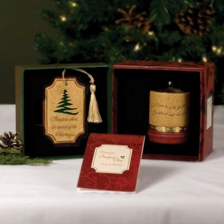 FAMILY Christmas Comfort Candles Gift Set - Families Xmas Tree Decoration & Tealight Candle Holder