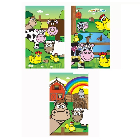 Farm Animals Notebook Notepad Jotter - Boys & Girls Party Bag Fillers