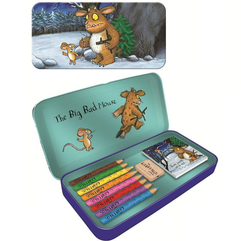 Filled Colouring Pencil Case Tin THE GRUFFALO'S CHILD Stationery (Blueprint)