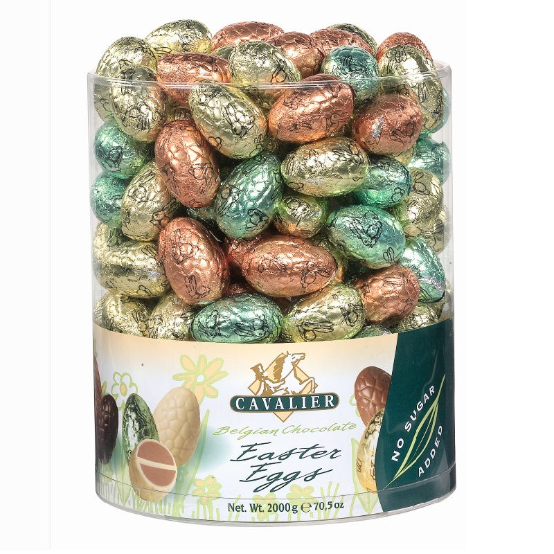 Foiled Mini Easter Eggs No Sugar Added Free CAVALIER Belgian Chocolates 10g (EACH)