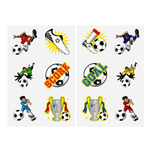Football Pack Of 12 Mini Tattoos