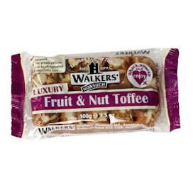 Fruit & Nut - Walker's Nonsuch Tray Toffee 100g (10 x Packs)