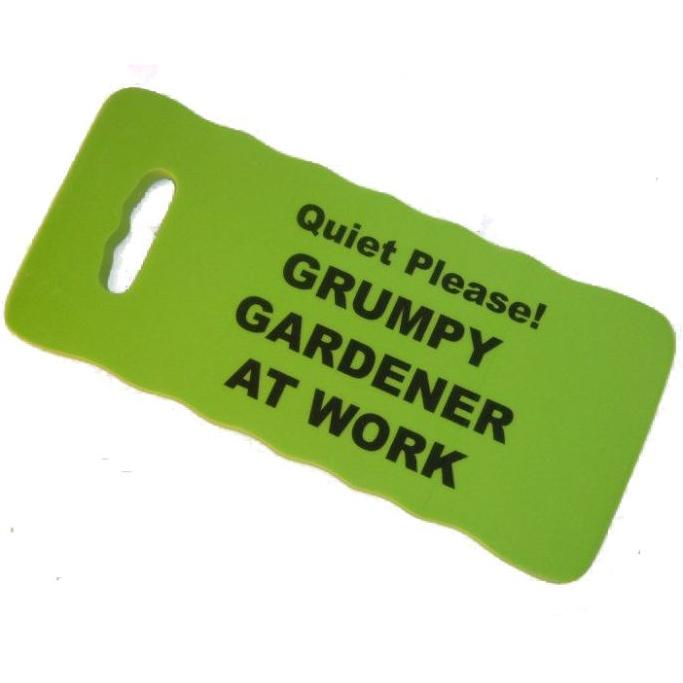 GRUMPY GARDENER AT WORK - Kneeling Pad For Gardeners - Green