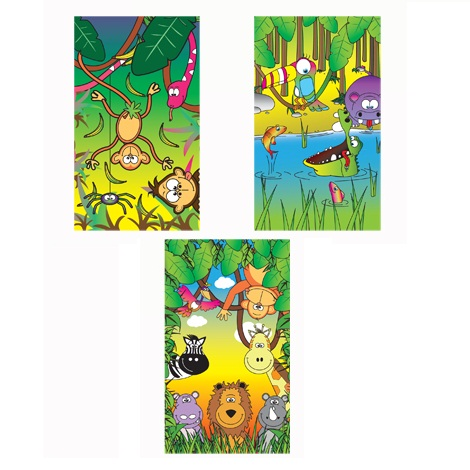 Jungle Animals Notebook Notepad Jotter - Boys & Girls Party Bag Fillers