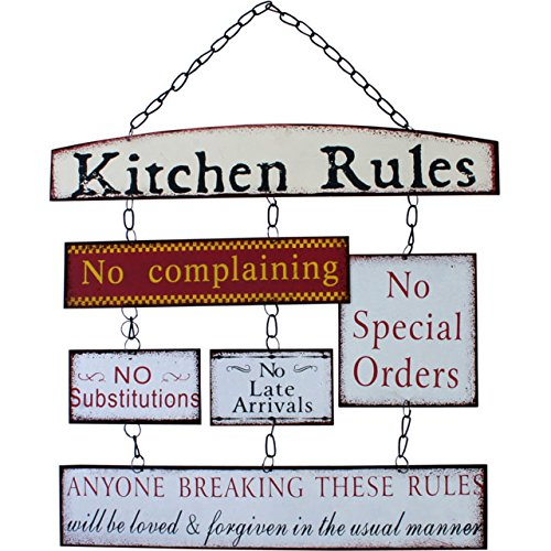 Kitchen-Rules-Sentimental-Signs-Hanging-Metal-Wall-Word-Art -Plaques-66901-p.jpg  sc 1 st  TAOS Gifts & Kitchen Rules - Sentimental Signs - Hanging Metal Wall Word Art ...