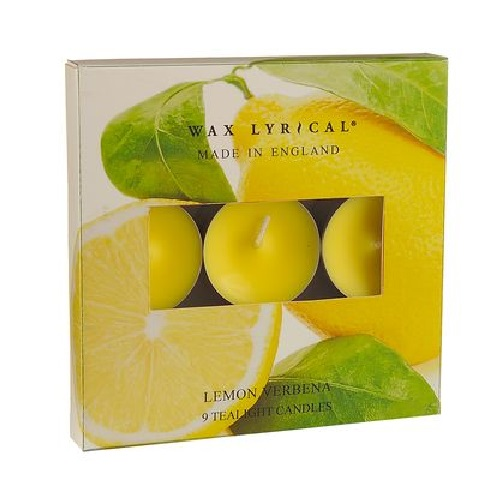 Lemon Verbena TEALIGHTS Made In England Scented Candles Wax Lyrical (Pack of 9)