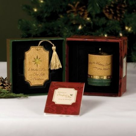 MOTHER Christmas Comfort Candles Gift Set - Mum Xmas Tree Decoration & Tealight Candle Holder