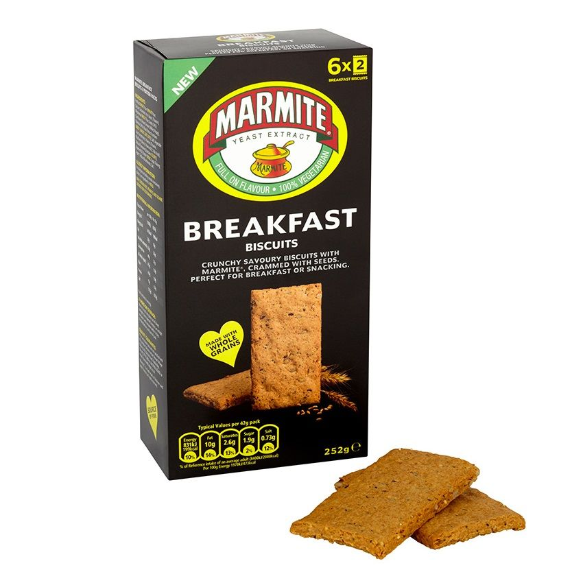 Marmite Breakfast Biscuits Savoury Gift Box Dorset Village Bakery 252g