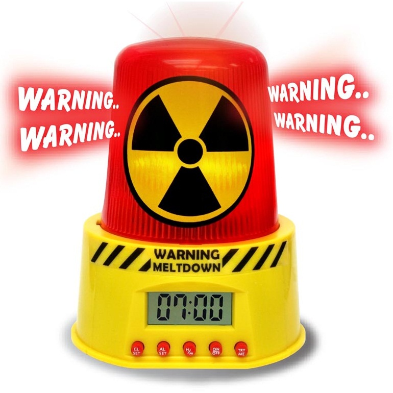Meltdown Alarm Clock Toxic Waste Warning Siren
