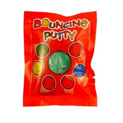 Mini Bouncing Putty - Moulds Bounces Stretches - Assorted Colours 5g (1 Supplied)