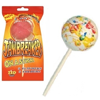 Monster Jawbreak On A Stick - Zed Candy Sweets Lolly