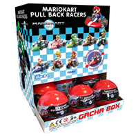 Nintendo MarioKart Wii Pull Back RACERS Surprise Lucky Dip Capsule GACHAS - 9 To Collect