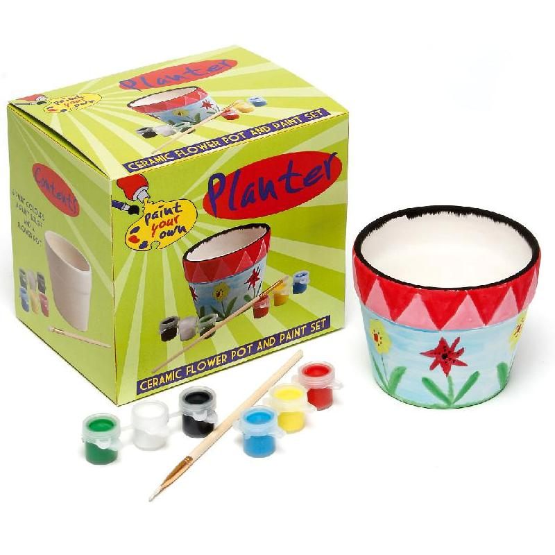 Paint Your Own PLANTER - Flower Pot - Painting Craft Kit