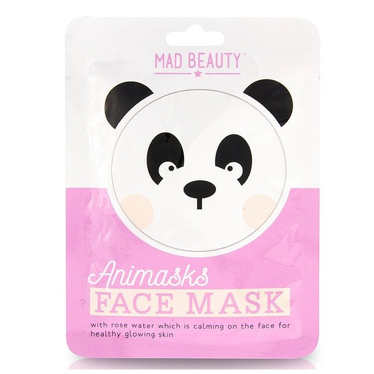 Panda Rose Animals Fun Face Mask 25ml Animasks - Mad Beauty