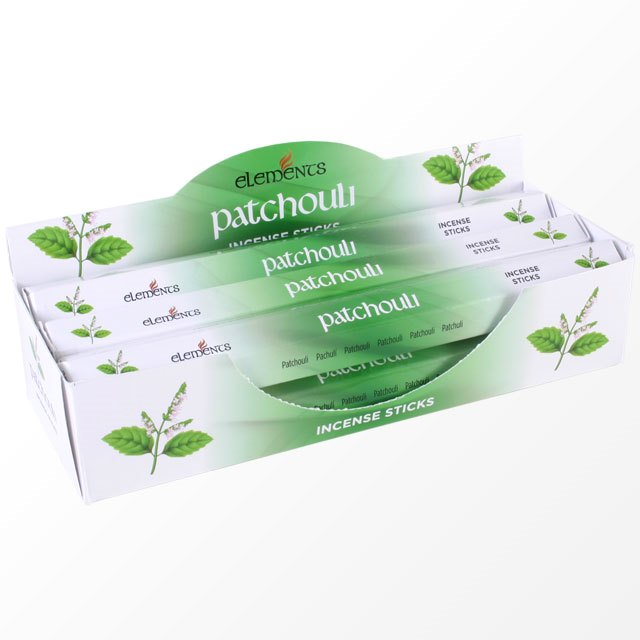 Patchouli Scented Incense Sticks Elements Indian - Tube Of 20