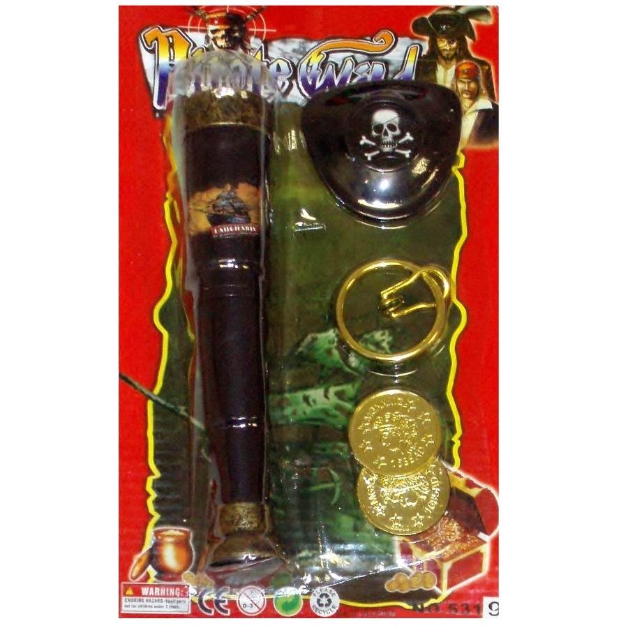 Pirate Telescope Eye Patch Earring Amp Gold Coins Gift Set
