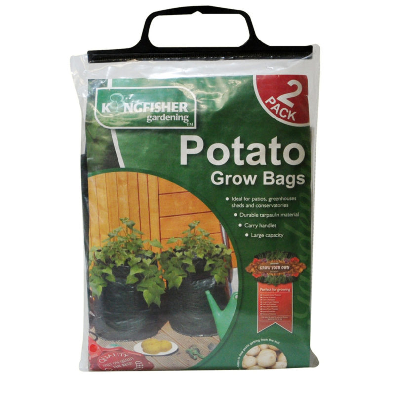 Potato Vegetable Tomato Planters Grow Bags - Kingfisher Pack of 2