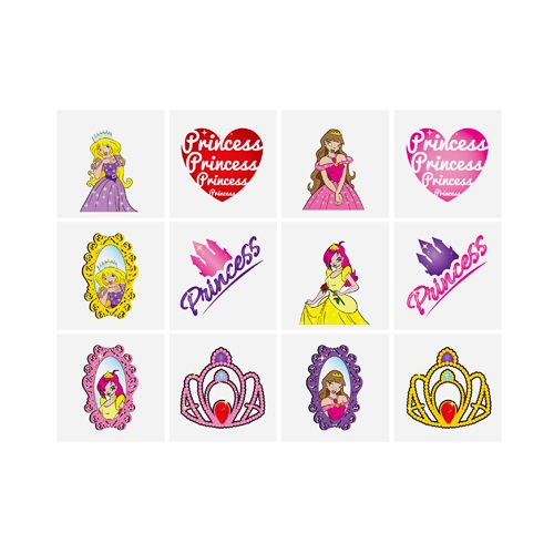 Princess - Pack of 12 Mini Tattoos