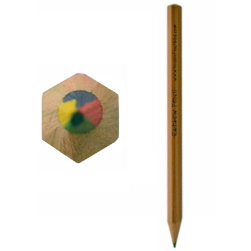 Rainbow Pencil Multi Coloured Lead Wooden By House Of Marbles - Age 3 Plus