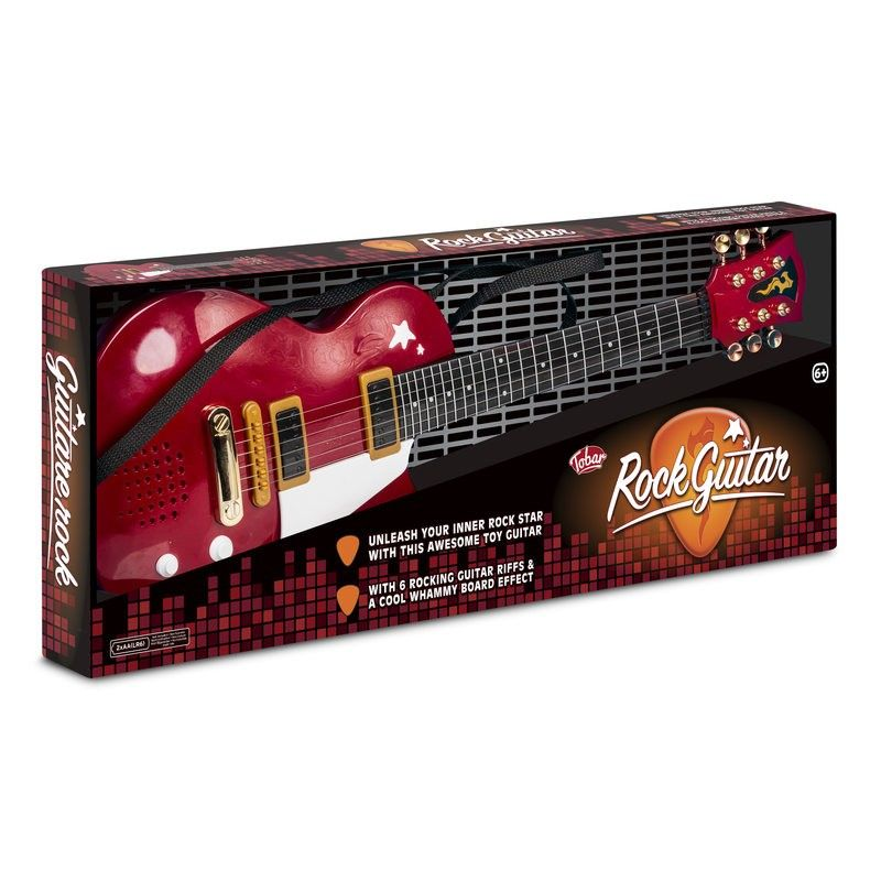 Red Rock Electric Guitar - Steel Strings Toy Musical Instrument Tobar