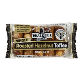 Roasted Hazelnut - Walker's Nonsuch Tray Toffee & Hammer 100g (10 x Packs)