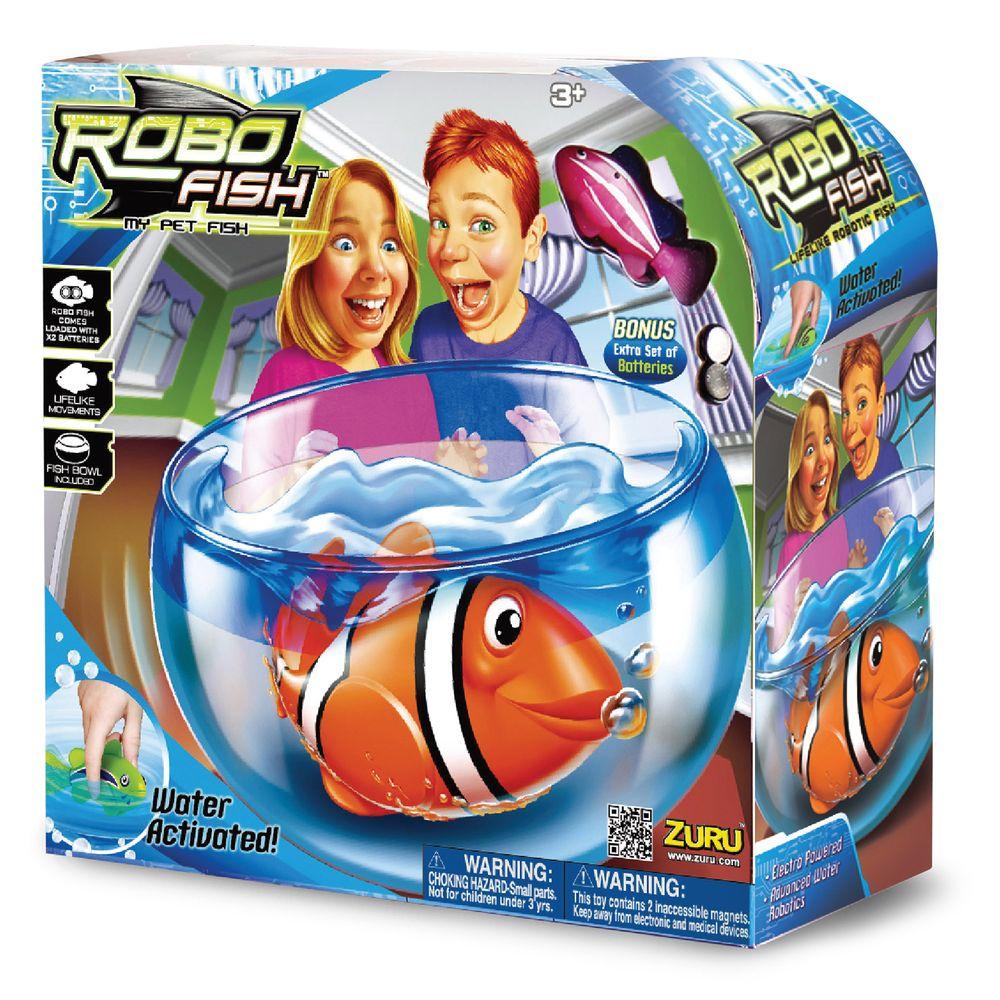 Robo Fish Play Set Fish Tank Amp 1 X Robo Fish By Zuru