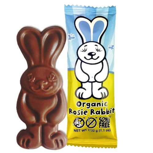 Rosie Rabbit Easter Bar - Organic Dairy Free Milk Chocolate Alternative MOO FREE 32g