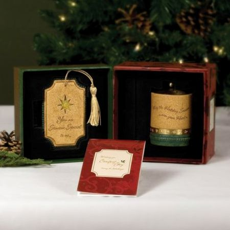 SOMEONE SPECIAL Christmas Comfort Candles Gift Set - Xmas Tree Decoration & Tealight Candle Holder