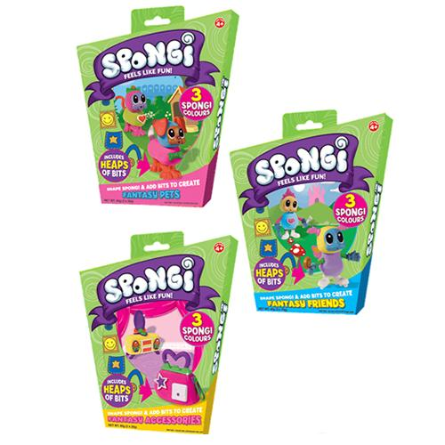 SPONGI Themed Pack For GIRLS - Fantasy Friends, Accessories & Pets