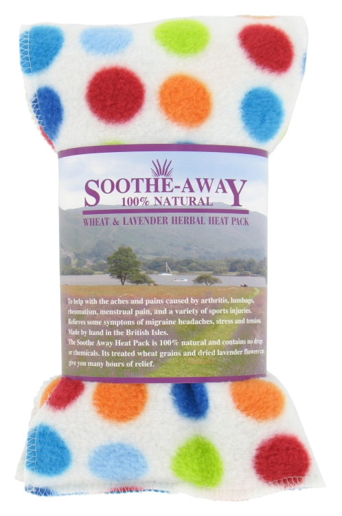 SPOTS Spotty Design Lavender Herbal Heat Wheat Bag Hot & Cold Pack