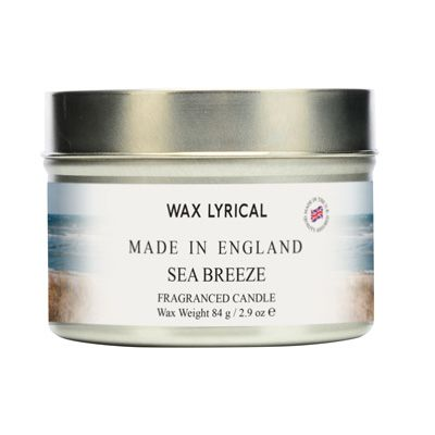 Sea Breeze TIN Made In England Scented Candles Wax Lyrical 16 Hours