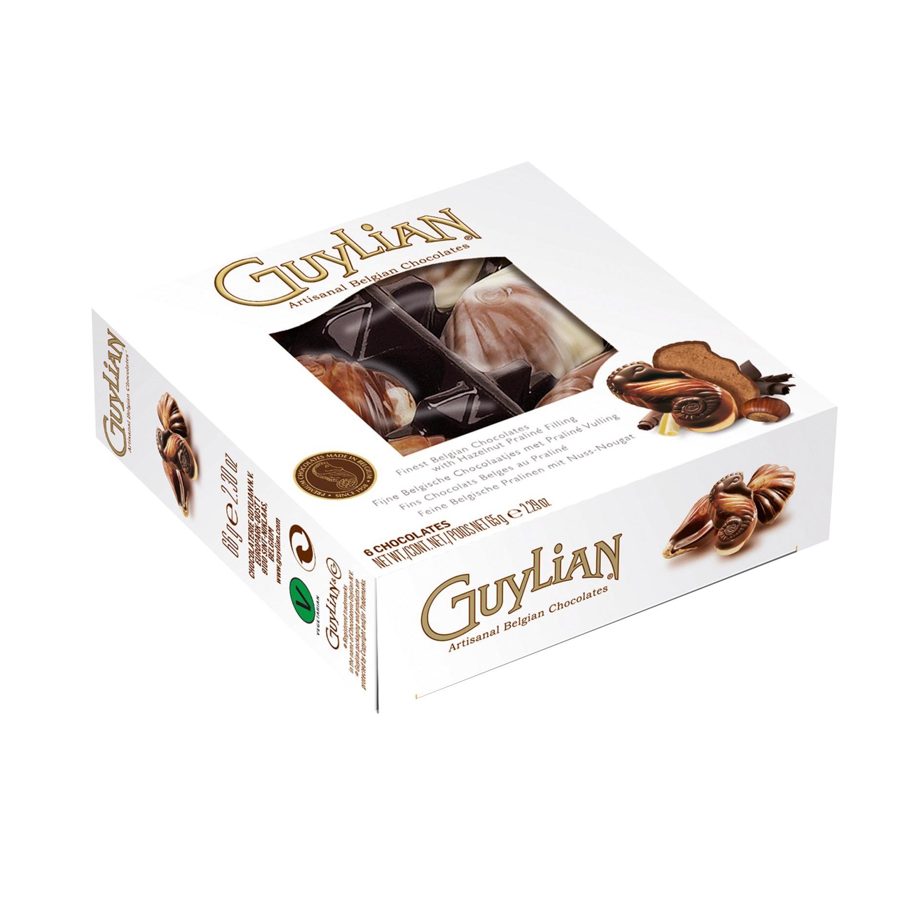 Seashells Guylian Belgian Milk Chocolates Small Gift Box 65g