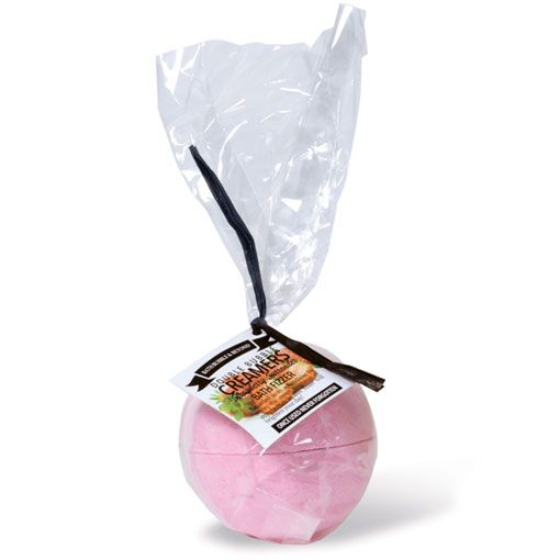 Strawberry Surrender Scented Double Bubble Creamer Bath Fizzer Bomb - Bath Bubble & Beyond 200g