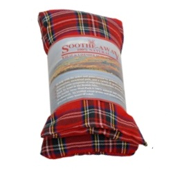 TARTAN RED Design Lavender Herbal Heat Wheat Bag Hot & Cold Pack