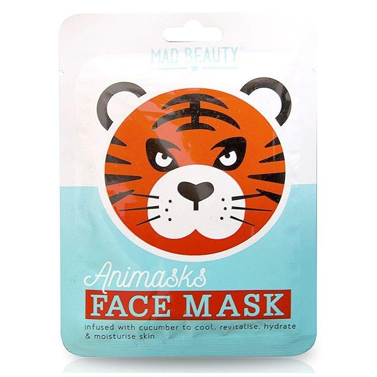 Tiger Cucumber Animals Fun Face Mask 25ml Animasks - Mad Beauty