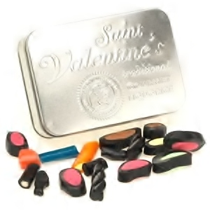 Traditional Gourmet Liquorice Tin Assorted - Saint Valentines 200g