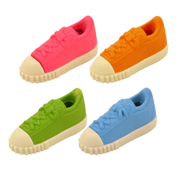 Trainer - Novelty 3D Erasers Rubbers PINK BLUE GREEN or ORANGE