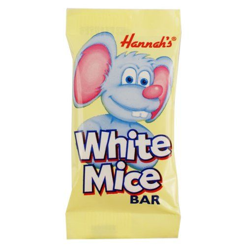 White Chocolate Flavour Mice Bar - Hannah's Candy Sweets 14g