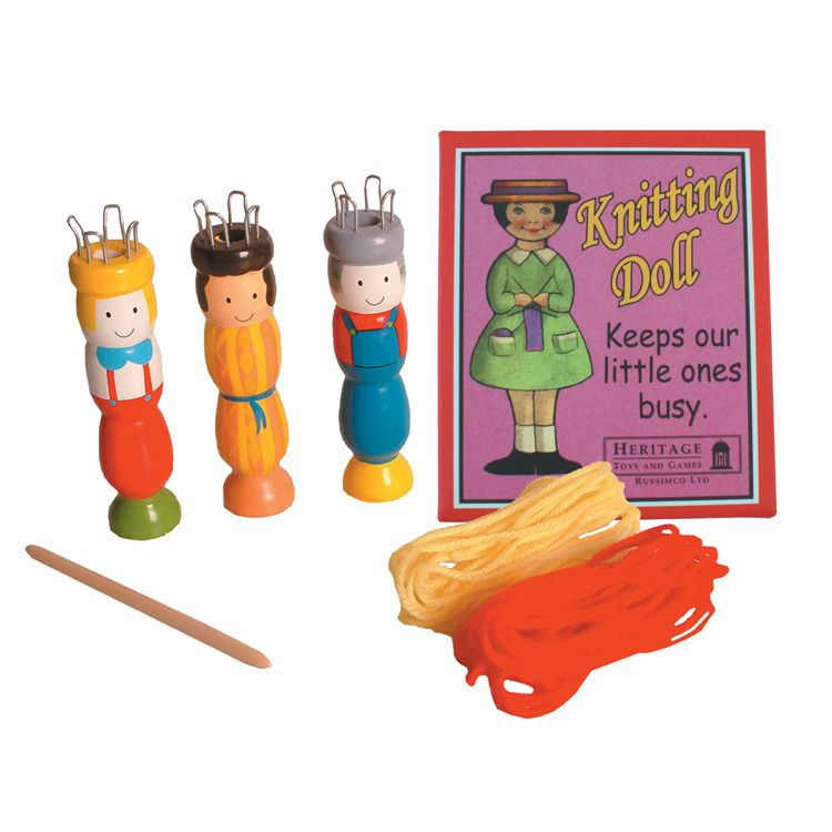 Wooden Knitting Doll Retro Toy By House Of Marbles - Age 3 Plus