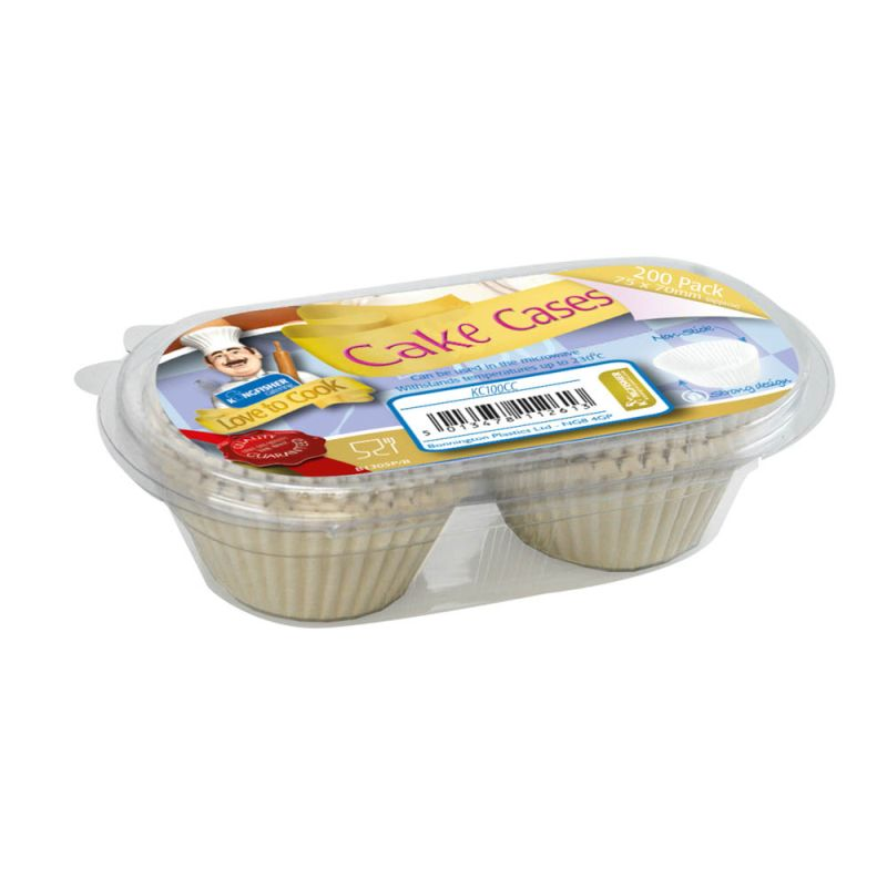 Cakes Cases 6x6cm Love To Cook Kingfisher Catering (200 Pack)