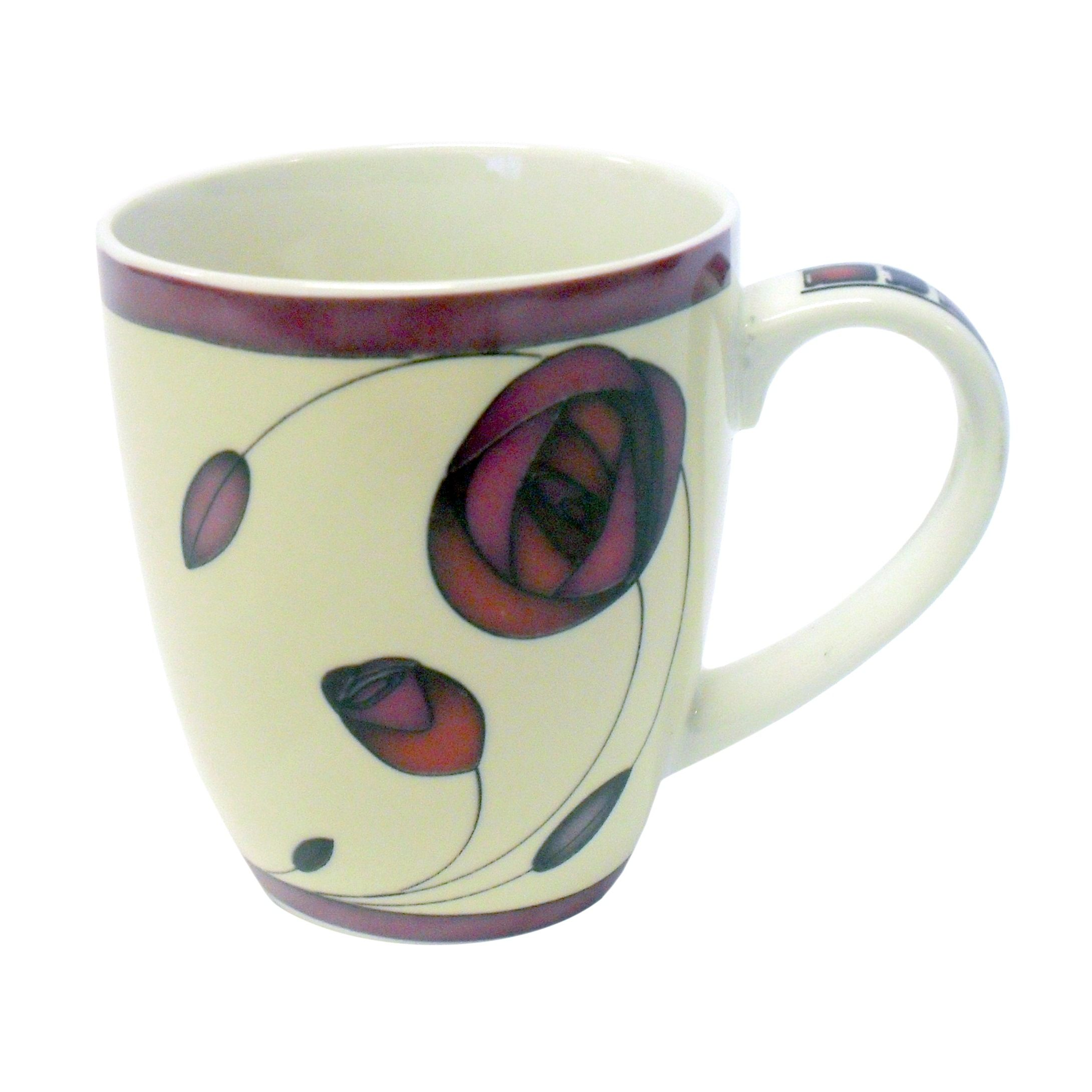 Charles Rennie Mackintosh Rose Plum - Bone China Mug I Style My Home Tradestock