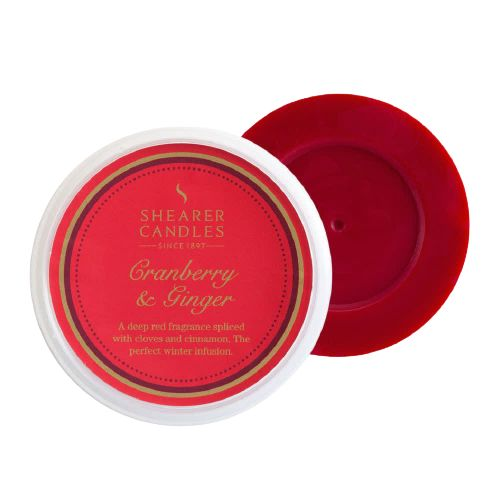 Cranberry & Ginger Scented Wax Melt - Shearer Candles