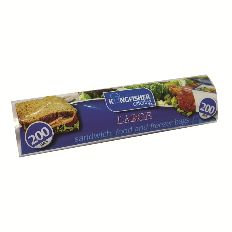 Large 34.5x22cm Sandwich Food Freezer Bags Kingfisher Catering (200 Pack)