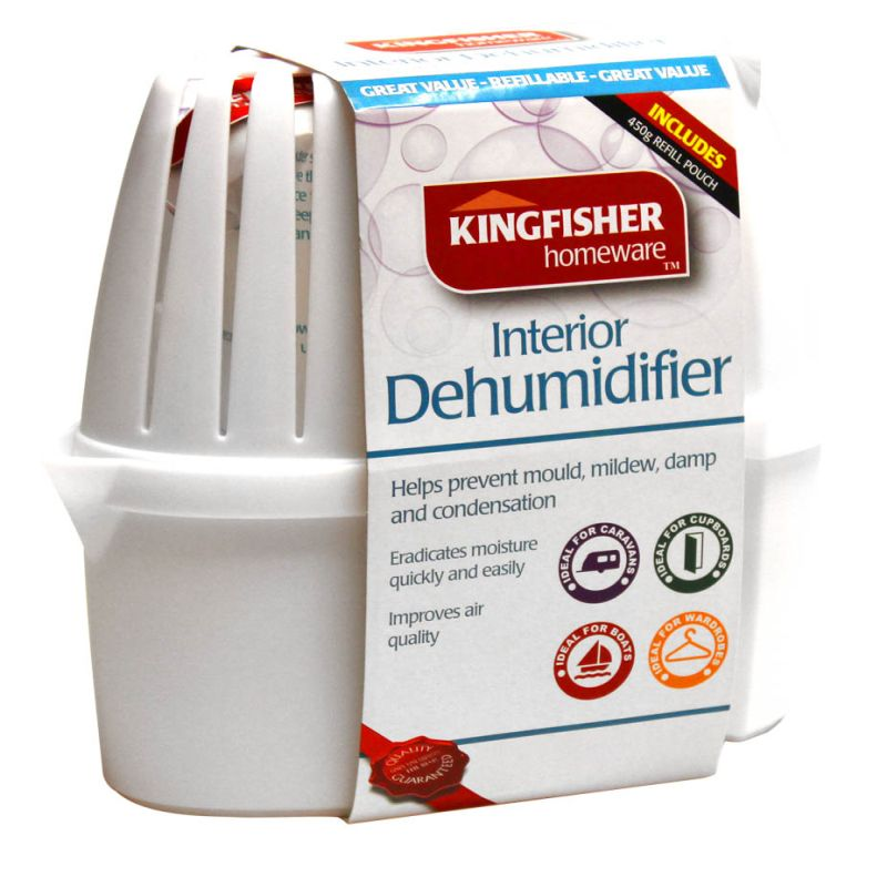 Large Interior Refillable Dehumidifer DHS2 Kingfisher Home