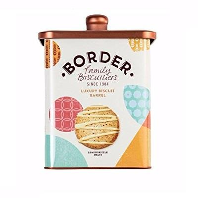 Luxury Biscuit Barrel Collection Gift Tin Cookies - Border Biscuits 600g