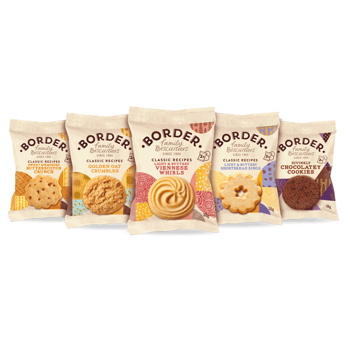 Luxury Mini Packs  2 Cookies - 5 Varieties Border Biscuits