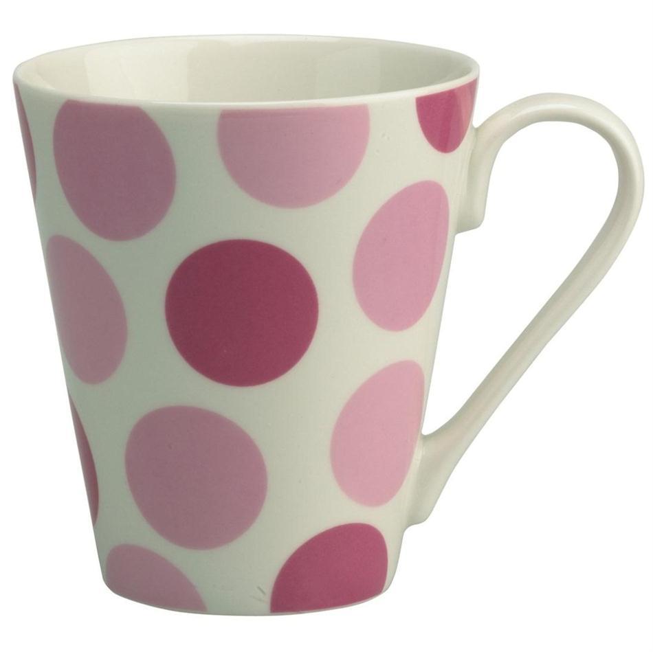 Pink Spotty Dots Gleneagles Of Edinburgh Fine China Mugs