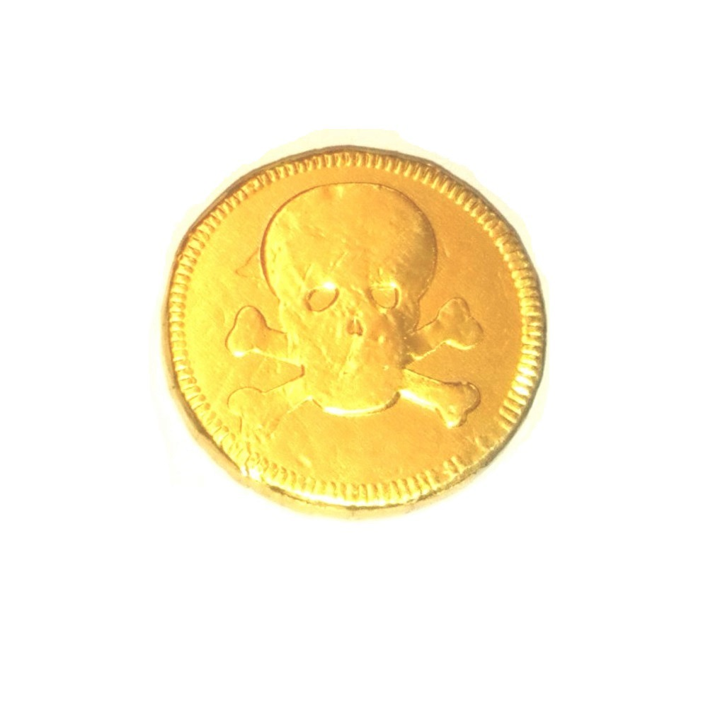 Pirates Gold Foil Milk Chocolate Money Coins 1 Supplied
