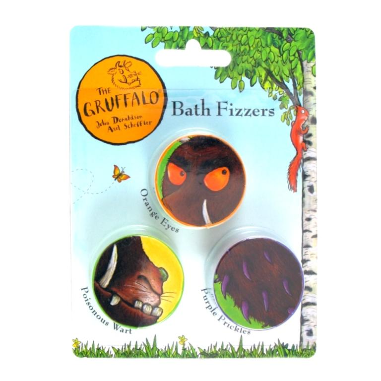 The Gruffalo Coloured Bath Fizzers Pack Of 3 20g Each